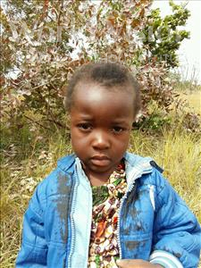 Actnet, aged 4, from Zambia, is hoping for a World Vision sponsor