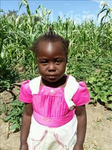 Choose a child to sponsor, like this little girl from Keembe, Derivaness age 5