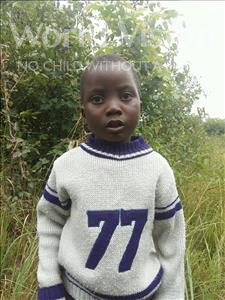 Choose a child to sponsor, like this little boy from Keembe, Obvious age 4