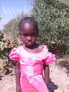 Choose a child to sponsor, like this little girl from Keembe, Bridget age 4