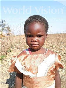 Choose a child to sponsor, like this little girl from Keembe, Sarah age 3