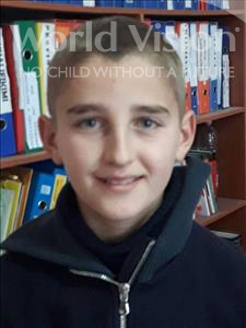 Choose a child to sponsor, like this little boy from Shkodra, Elvis age 12