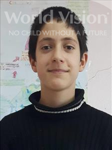 Choose a child to sponsor, like this little boy from Shkodra, Rubin age 13
