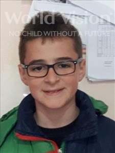 Choose a child to sponsor, like this little boy from Shkodra, Sebastjan age 12