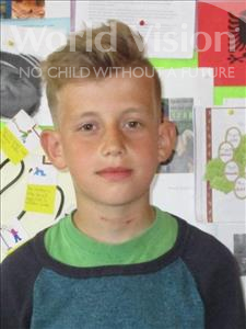 Choose a child to sponsor, like this little boy from Shkodra, Elfat age 11