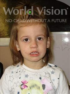 Choose a child to sponsor, like this little girl from Shkodra, Eriselda age 5