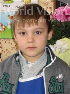Choose a child to sponsor, like this little boy from Shkodra, Fabiano age 6