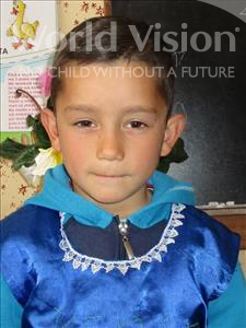 Choose a child to sponsor, like this little boy from Shkodra, Kenan age 6