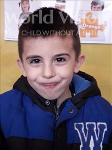 Choose a child to sponsor, like this little boy from Shkodra, Denis age 7