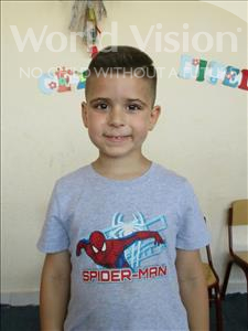 Choose a child to sponsor, like this little boy from Shkodra, Noar age 5