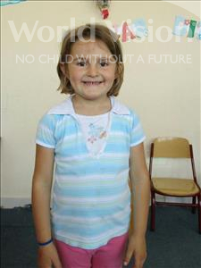 Choose a child to sponsor, like this little girl from Shkodra, Klara age 5
