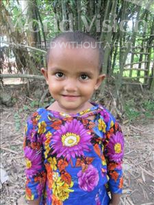 Choose a child to sponsor, like this little girl from Ghoraghat, Sanjida Sharmin age 4