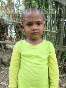 Joni, aged 4, from Bangladesh, is hoping for a World Vision sponsor