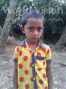 Choose a child to sponsor, like this little boy from Ghoraghat, Abdullah age 7