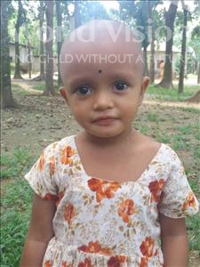 Choose a child to sponsor, like this little girl from Ghoraghat, Rumali Ruma age 3