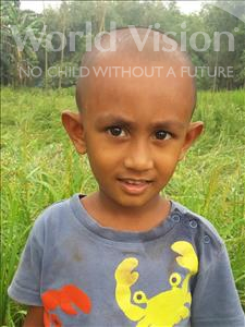 Choose a child to sponsor, like this little boy from Ghoraghat, Jahid Hasan Junaid age 4