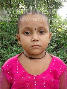 Choose a child to sponsor, like this little girl from Ghoraghat, Farzana age 4