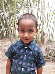Choose a child to sponsor, like this little boy from Ghoraghat, Kawsar age 4
