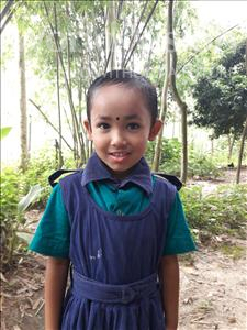 Choose a child to sponsor, like this little girl from Ghoraghat, Riya age 6