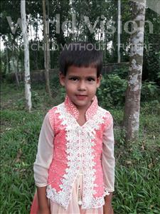 Choose a child to sponsor, like this little girl from Ghoraghat, Jemi age 5