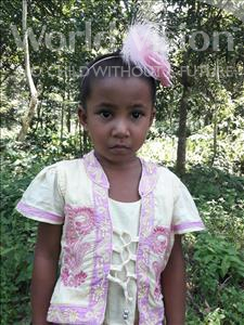 Choose a child to sponsor, like this little girl from Ghoraghat, Umme Jannat age 3