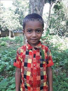 Choose a child to sponsor, like this little boy from Ghoraghat, Sahriyar Sajjad age 5