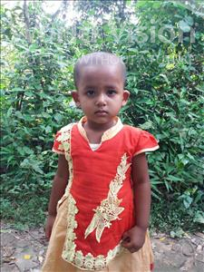 Choose a child to sponsor, like this little girl from Ghoraghat, Nusrat Mayamoni age 2