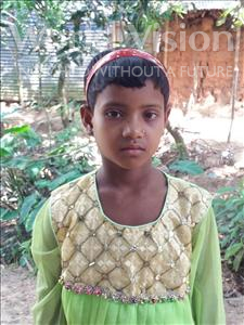Choose a child to sponsor, like this little girl from Ghoraghat, Khatiza age 6