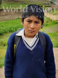 Choose a child to sponsor, like this little boy from Mosoj Punchay, Gumersindo age 12