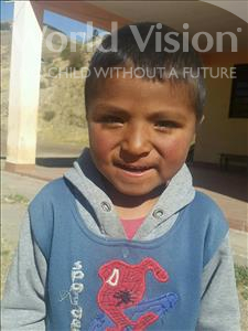 Choose a child to sponsor, like this little boy from Mosoj Punchay, Elvis age 6