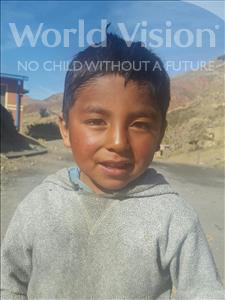 Choose a child to sponsor, like this little boy from Mosoj Punchay, Juan Miguel age 5