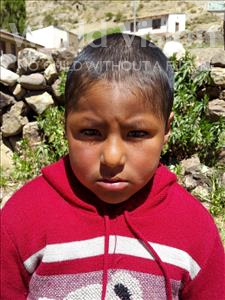 Choose a child to sponsor, like this little boy from Mosoj P'unchay, David age 6