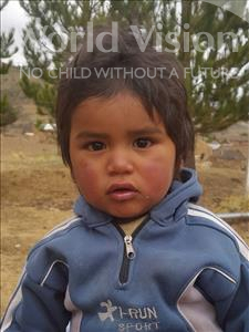 Choose a child to sponsor, like this little boy from Mosoj Punchay, James age 3