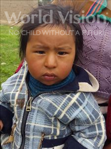 Choose a child to sponsor, like this little boy from Mosoj Punchay, Eddy age 2