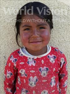 Choose a child to sponsor, like this little girl from Mosoj P'unchay, Hilda age 4
