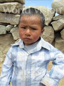 Choose a child to sponsor, like this little boy from Khantati, David age 3
