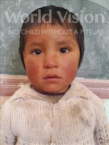 Choose a child to sponsor, like this little girl from Khantati, Edelmira age 4