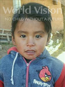 Choose a child to sponsor, like this little boy from Khantati, Jhon Maycol age 3