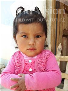 Choose a child to sponsor, like this little girl from Khantati, Jhoselin age 3