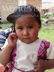 Choose a child to sponsor, like this little girl from Khantati, Amalia age 3