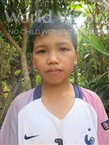 Choose a child to sponsor, like this little boy from Soutr Nikom, Phina age 11