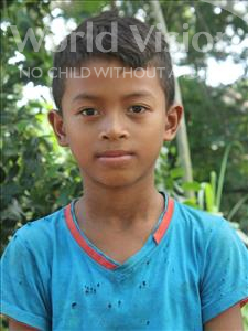 Choose a child to sponsor, like this little boy from Soutr Nikom, Meng Soeu age 9