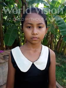 Choose a child to sponsor, like this little girl from Soutr Nikom, Chhaivorn age 12
