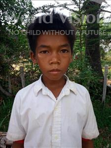 Choose a child to sponsor, like this little boy from Soutr Nikom, Sochen age 12