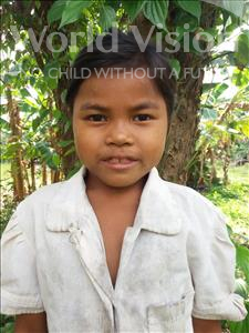 Choose a child to sponsor, like this little girl from Soutr Nikom, Sreyteng age 9