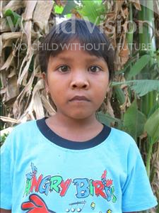 Choose a child to sponsor, like this little girl from Soutr Nikom, Soriya age 8