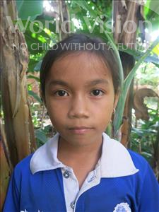 Choose a child to sponsor, like this little girl from Soutr Nikom, Srey Keo age 11