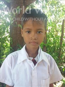 Choose a child to sponsor, like this little boy from Soutr Nikom, Socheat age 7