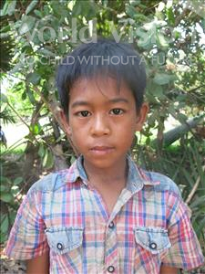 Choose a child to sponsor, like this little boy from Soutr Nikom, Vaneth age 11