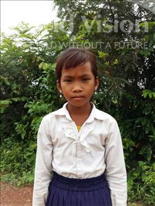 Choose a child to sponsor, like this little girl from Soutr Nikom, Koemlang age 9